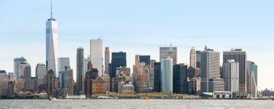 Widok Manhattan linia horyzontu w NYC Zdjęcie Royalty Free