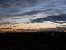 Widok Manhattan od Arthur Ashe stadium obraz royalty free