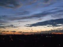 Widok Manhattan od Arthur Ashe stadium zdjęcie royalty free