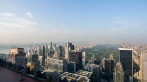 widok Manhattanu lotniczy Fotografia Stock