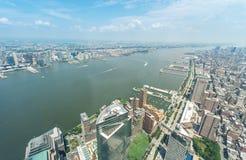 widok Manhattanu lotniczy Obrazy Stock