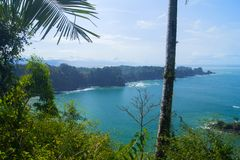 Widok Manuel Antonio, Costa Rica zdjęcie royalty free