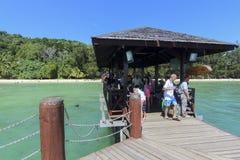 Widok Manukan wyspa, Sabah, Malezja Fotografia Stock