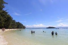 Widok Manukan wyspa, Sabah, Malezja Obrazy Stock