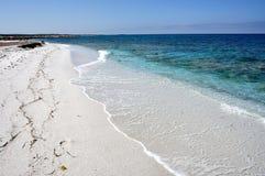 Widok Mari Ermi plaża, Sardinia, Włochy Obraz Royalty Free