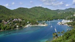 Widok Marigot zatoka, święty Lucia obraz royalty free