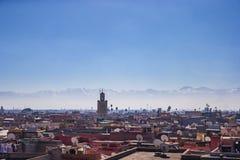 Widok Marrakech, Maroko obrazy royalty free