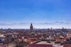 Widok Marrakech, Maroko zdjęcie stock