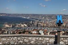 Widok Marseille. Łodzie w porcie. Obraz Royalty Free