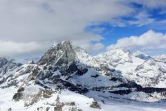 Widok Matterhorn od Klein Matterhorn szczytu staci Szwajcarscy Alps, Valais, Szwajcaria zdjęcie royalty free