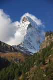 Widok Matterhorn od Zermatt, Szwajcaria Obraz Stock