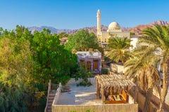 Widok meczet i domy przy stopą góry Synaj Zdjęcia Stock
