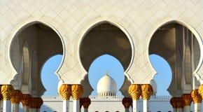 Widok Meczetowa kopuła w Islamskiej kulturze Obraz Stock