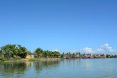 Widok Mekong rzeka w Dong thap, Wietnam Zdjęcie Stock