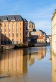 Widok Metz nad Moselle rzeką, Lorraine, Francja Zdjęcia Royalty Free