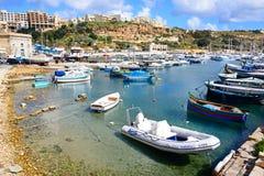 Widok Mgarr schronienie, Gozo Obraz Stock