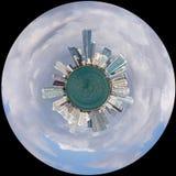 Widok Miami linia horyzontu jak planetę Trochę zdjęcia stock