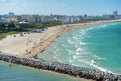 Widok Miami Plaża Fotografia Royalty Free
