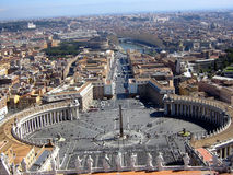 widok miasta Watykanu Zdjęcie Royalty Free