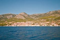 Widok miasteczko Bol. Wyspa Brac. Chorwacja. Zdjęcie Royalty Free