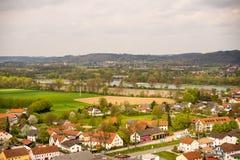 Widok miasteczko domy Zdjęcie Stock