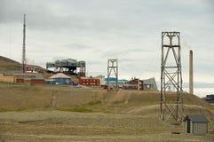 Widok miasteczko Longyearbyen, Norwegia Zdjęcia Royalty Free