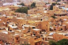 Widok miasteczko od Jaisalmer fortu, India Fotografia Royalty Free