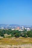 Widok miasteczko Paphos od Archeologicznego parka Obraz Royalty Free