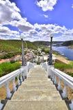 Widok miasteczko Piranhas i piękny fotografia stock