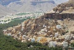 Widok miasteczko Seiyun, Hadramaut dolina, Jemen Obrazy Stock