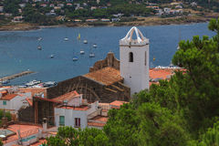 Widok miasteczko w Hiszpania Obrazy Royalty Free