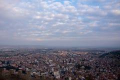 Widok miasto Afyonkarahisar od kasztelu Zdjęcie Stock
