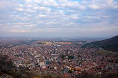 Widok miasto Afyonkarahisar od kasztelu Obraz Stock