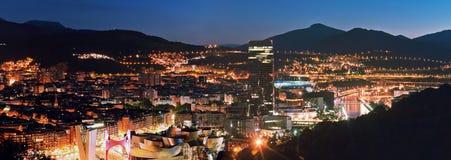 Widok miasto Bilbao, Hiszpania zdjęcie stock