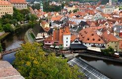 Widok miasto Cesky Krumlov fotografia royalty free