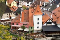 Widok miasto Cesky Krumlov obrazy stock
