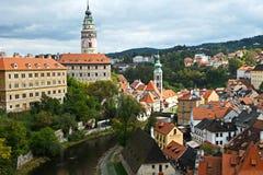 Widok miasto Cesky Krumlov zdjęcia royalty free