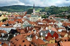 Widok miasto Cesky Krumlov obraz stock