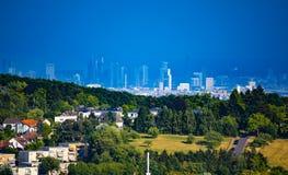 Widok miasto Frankfurt magistrala, Niemcy - jest - obraz royalty free