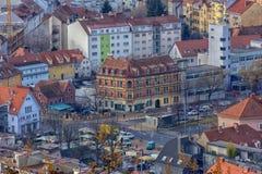Widok miasto Graz od above, Austria Obrazy Royalty Free