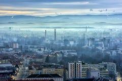 Widok miasto Graz od above, Austria Zdjęcia Stock
