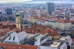 Widok miasto Graz od above, Austria Fotografia Stock
