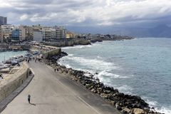 Widok miasto Heraklion Crete, Grecja, - Obrazy Stock