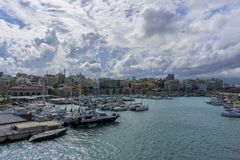 Widok miasto Heraklion Crete, Grecja, - Obraz Royalty Free