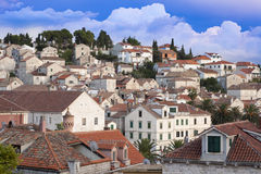 Widok miasto Hvar, Chorwacja Obrazy Stock