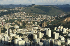 Widok miasto Juiz de Dla A, minas gerais, Brazylia Zdjęcia Stock
