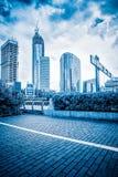 Widok miasto kwadrat w Szanghaj Obrazy Royalty Free