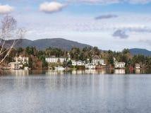 Widok miasto lake placid Zdjęcie Royalty Free