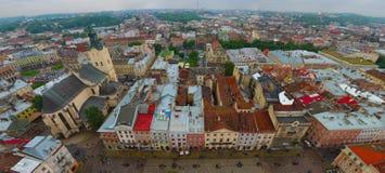 Widok miasto Lviv Obrazy Stock