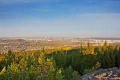 Widok miasto Nizhny Tagil z wierzchu góry Obrazy Stock